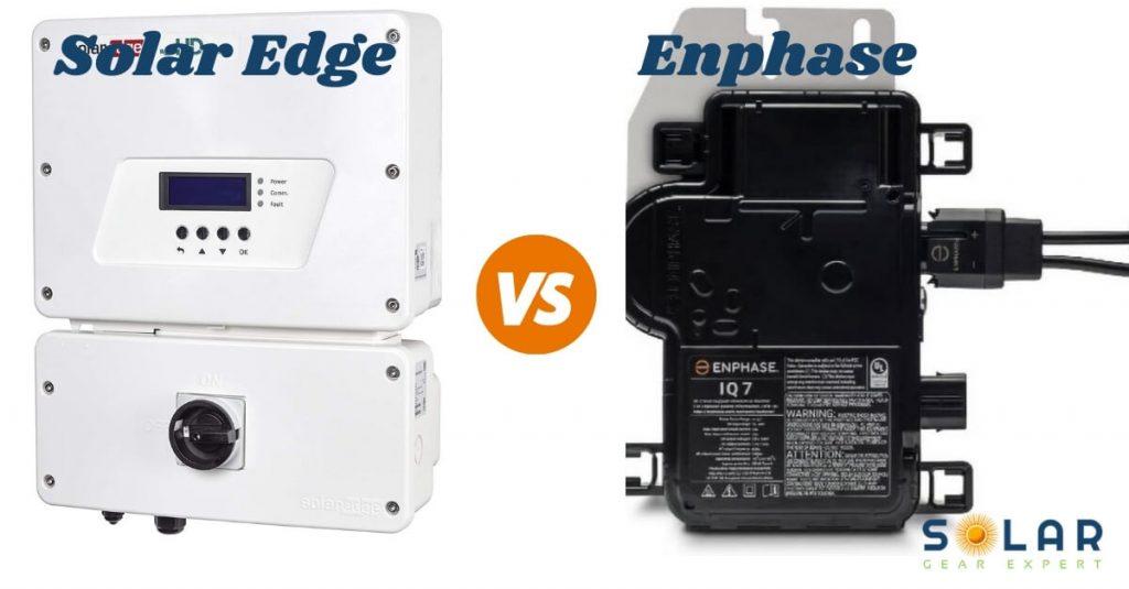SolarEdge vs Enphase